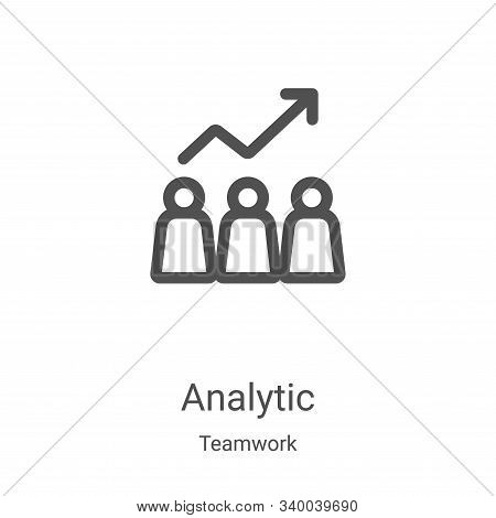 analytic icon isolated on white background from teamwork collection. analytic icon trendy and modern
