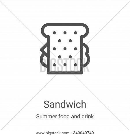 sandwich icon isolated on white background from summer food and drink collection. sandwich icon tren