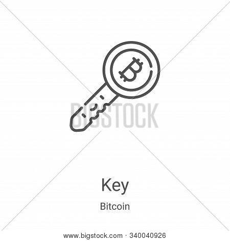 key icon isolated on white background from bitcoin collection. key icon trendy and modern key symbol