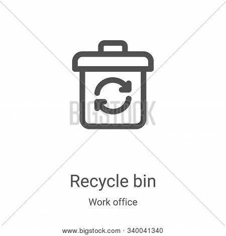 recycle bin icon isolated on white background from work office collection. recycle bin icon trendy a