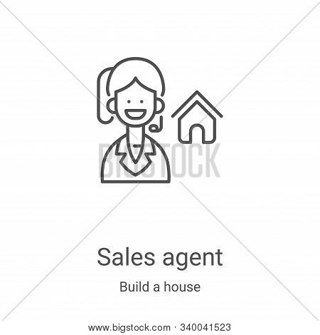 sales agent icon isolated on white background from build a house collection. sales agent icon trendy