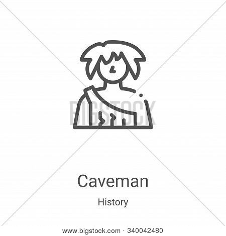 caveman icon isolated on white background from history collection. caveman icon trendy and modern ca