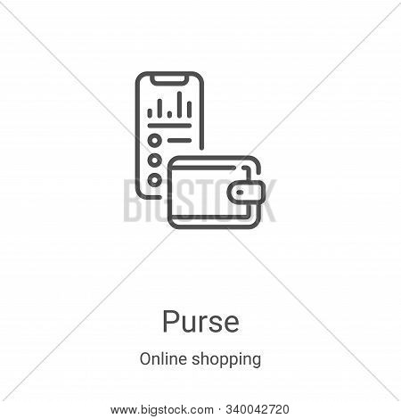 purse icon isolated on white background from online shopping collection. purse icon trendy and moder