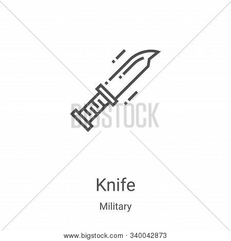 knife icon isolated on white background from military collection. knife icon trendy and modern knife