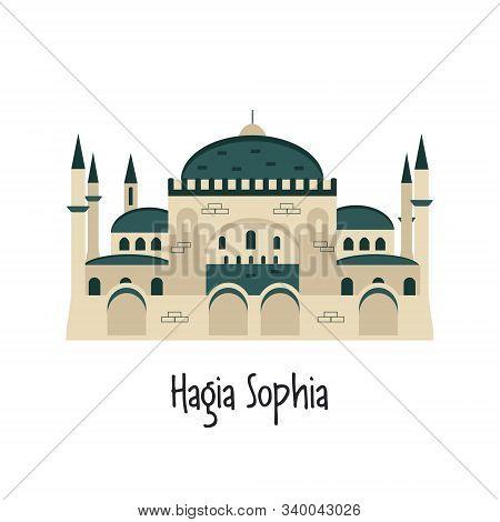 Vector Illustration Of Hagia Sophia In Istanbul
