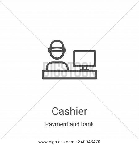 cashier icon isolated on white background from payment and bank collection. cashier icon trendy and