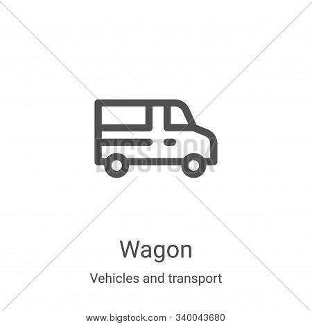 wagon icon isolated on white background from vehicles and transport collection. wagon icon trendy an