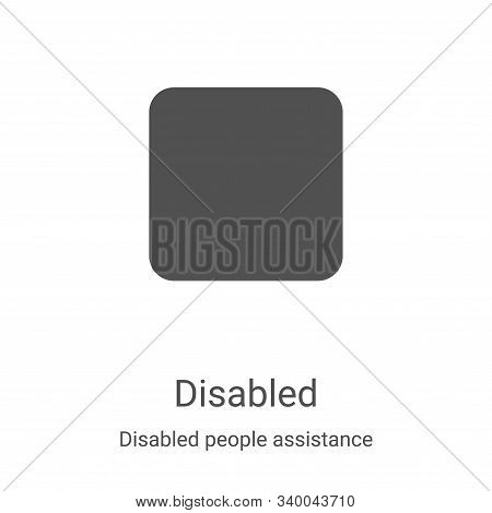 disabled icon isolated on white background from disabled people assistance collection. disabled icon