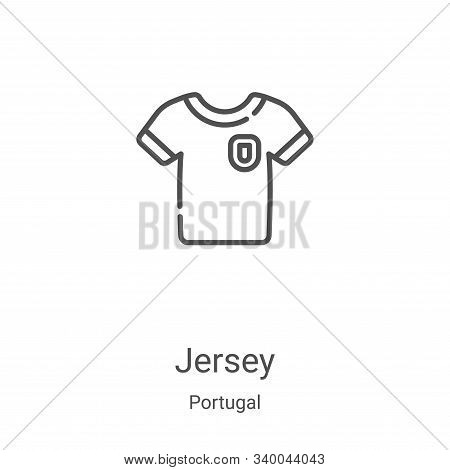 jersey icon isolated on white background from portugal collection. jersey icon trendy and modern jer