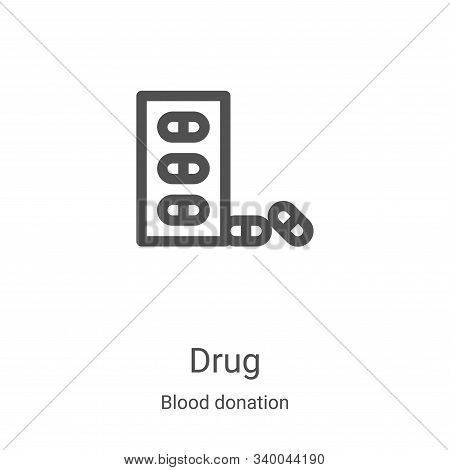drug icon isolated on white background from blood donation collection. drug icon trendy and modern d