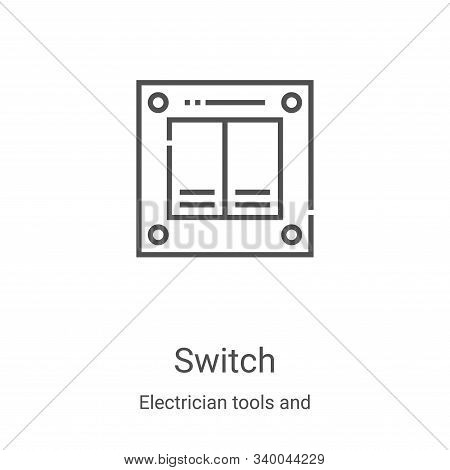 switch icon isolated on white background from electrician tools and elements collection. switch icon