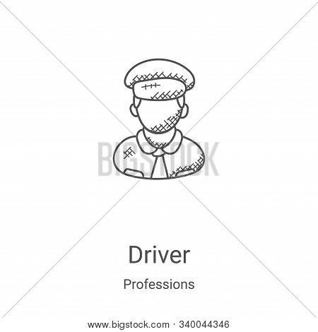 driver icon isolated on white background from professions collection. driver icon trendy and modern