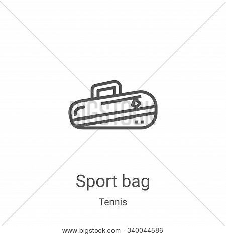 sport bag icon isolated on white background from tennis collection. sport bag icon trendy and modern