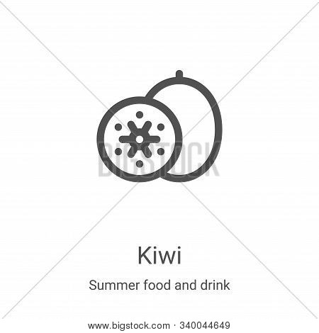 kiwi icon isolated on white background from summer food and drink collection. kiwi icon trendy and m