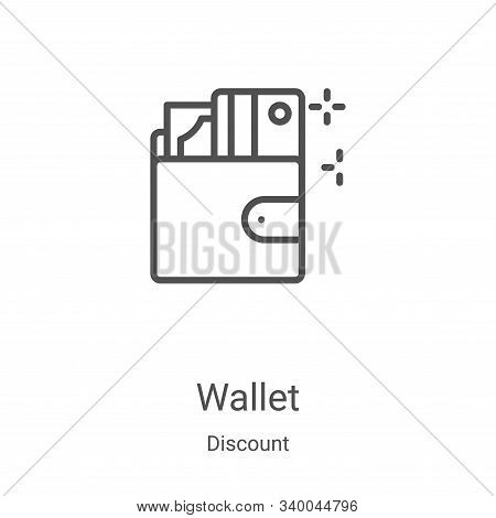 wallet icon isolated on white background from discount collection. wallet icon trendy and modern wal