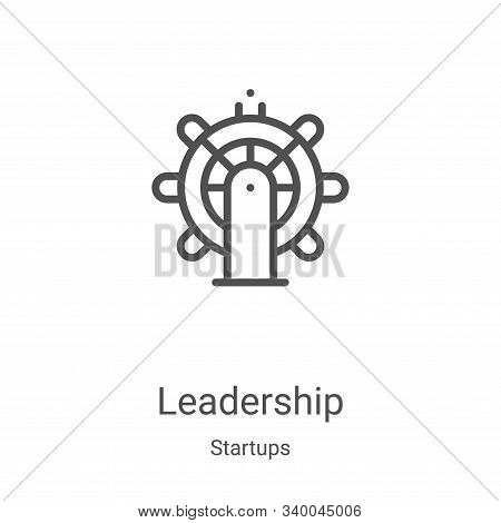 leadership icon isolated on white background from startups collection. leadership icon trendy and mo