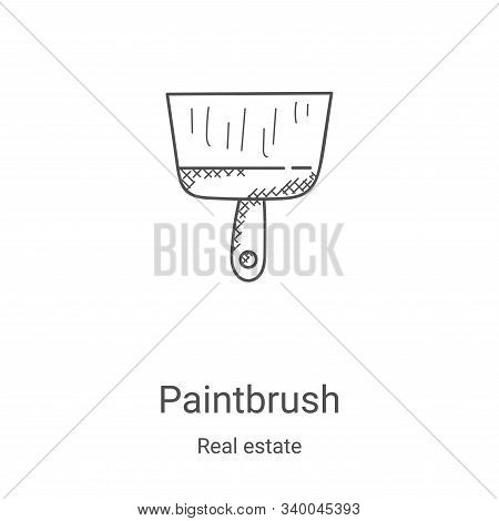 paintbrush icon isolated on white background from real estate collection. paintbrush icon trendy and
