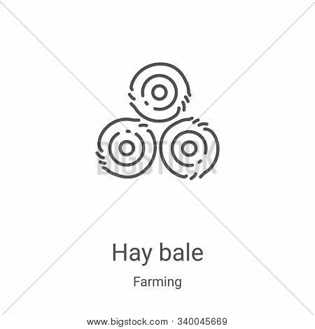 hay bale icon isolated on white background from farming collection. hay bale icon trendy and modern