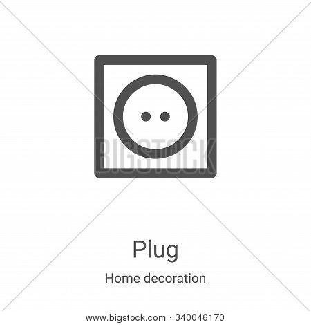 plug icon isolated on white background from home decoration collection. plug icon trendy and modern