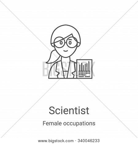 scientist icon isolated on white background from female occupations collection. scientist icon trend