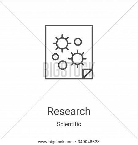research icon isolated on white background from scientific collection. research icon trendy and mode