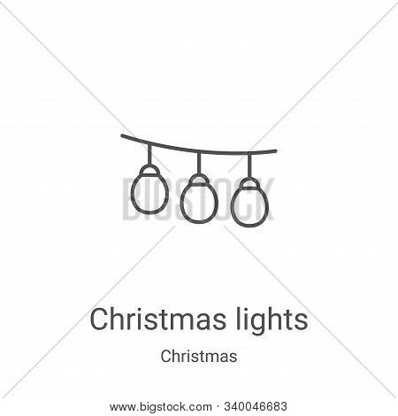 christmas lights icon isolated on white background from christmas collection. christmas lights icon