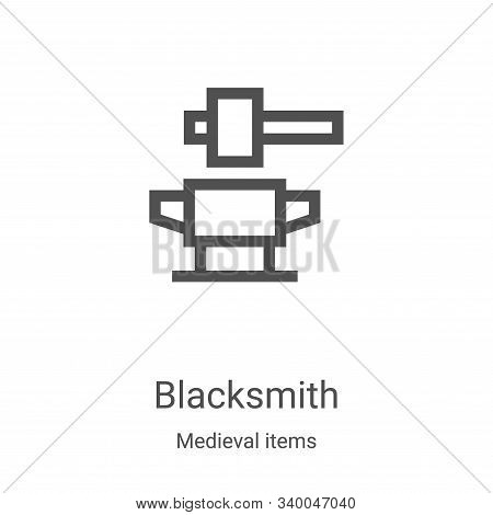 blacksmith icon isolated on white background from medieval items collection. blacksmith icon trendy