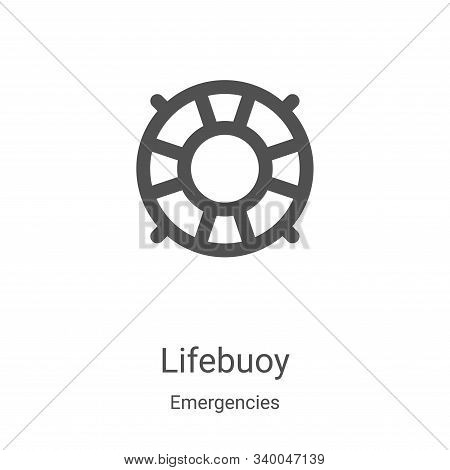 lifebuoy icon isolated on white background from emergencies collection. lifebuoy icon trendy and mod