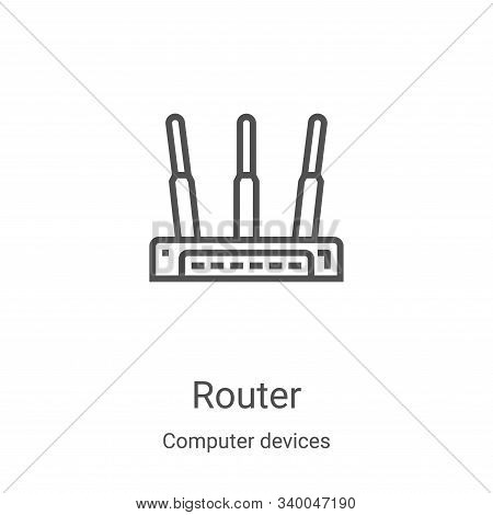 router icon isolated on white background from computer devices collection. router icon trendy and mo
