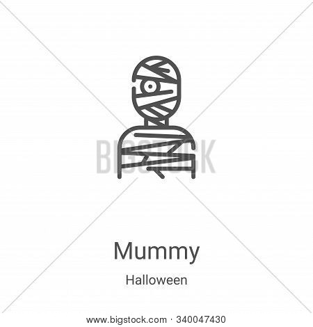 mummy icon isolated on white background from halloween collection. mummy icon trendy and modern mumm