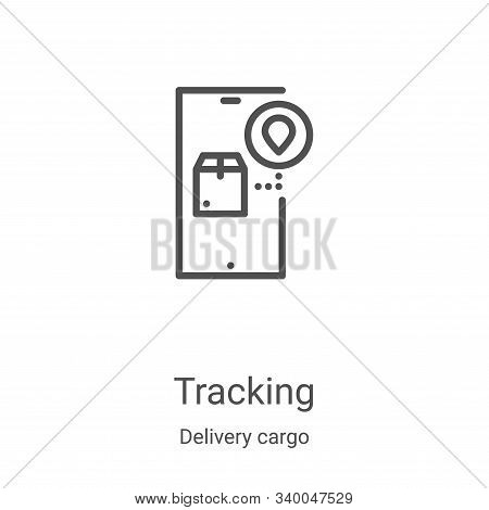 tracking icon isolated on white background from delivery cargo collection. tracking icon trendy and