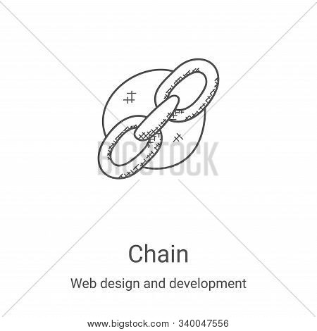 chain icon isolated on white background from web design and development collection. chain icon trend