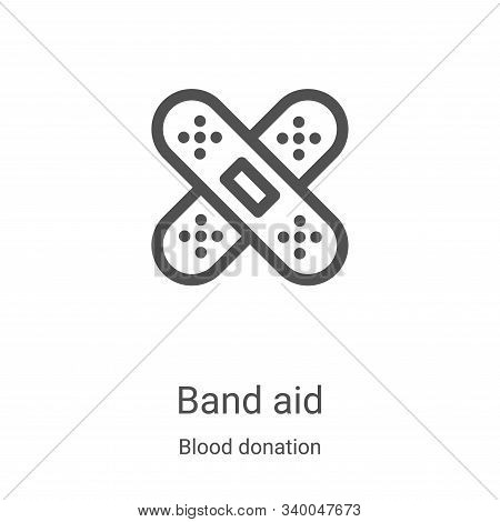 band aid icon isolated on white background from blood donation collection. band aid icon trendy and
