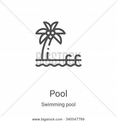 pool icon isolated on white background from swimming pool collection. pool icon trendy and modern po