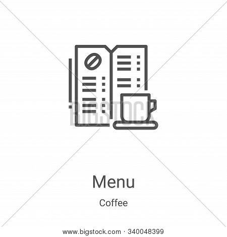 menu icon isolated on white background from coffee collection. menu icon trendy and modern menu symb