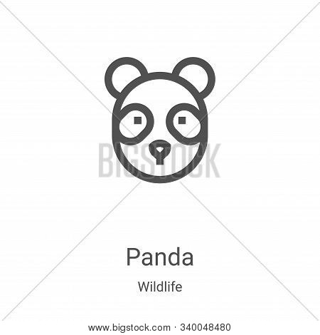 panda icon isolated on white background from wildlife collection. panda icon trendy and modern panda