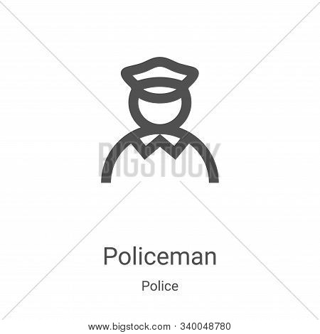 policeman icon isolated on white background from police collection. policeman icon trendy and modern