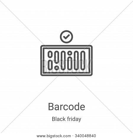 barcode icon isolated on white background from black friday collection. barcode icon trendy and mode