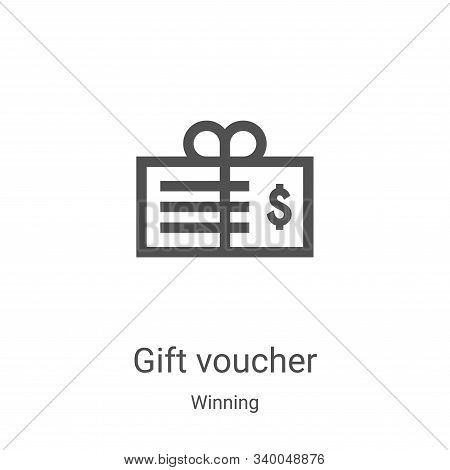 gift voucher icon isolated on white background from winning collection. gift voucher icon trendy and