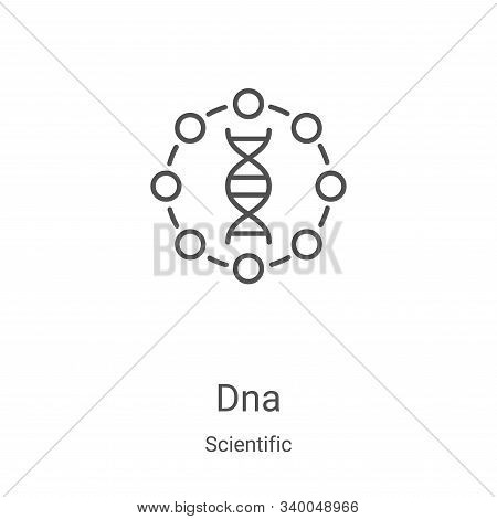 dna icon isolated on white background from scientific collection. dna icon trendy and modern dna sym
