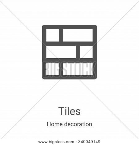 tiles icon isolated on white background from home decoration collection. tiles icon trendy and moder