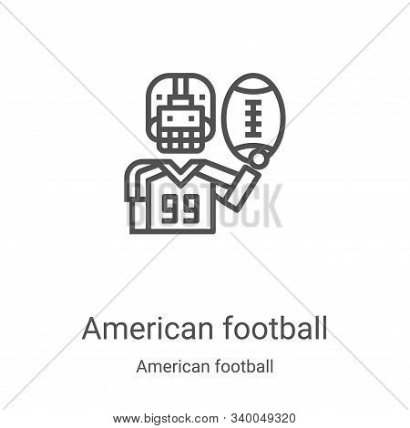 american football icon isolated on white background from american football collection. american foot