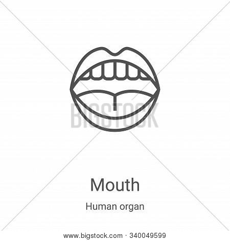 mouth icon isolated on white background from human organ collection. mouth icon trendy and modern mo