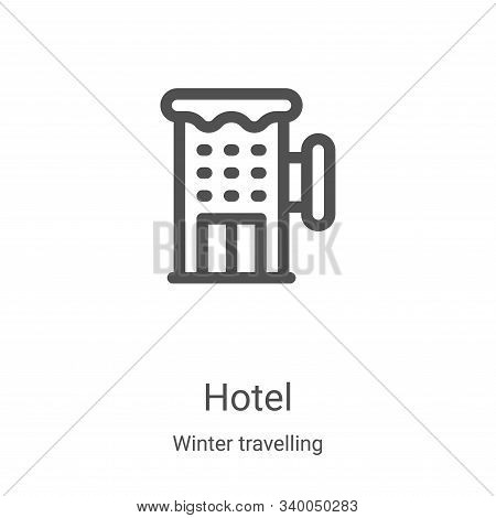 hotel icon isolated on white background from winter travelling collection. hotel icon trendy and mod
