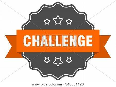 Challenge Isolated Seal. Challenge Orange Label. Challenge