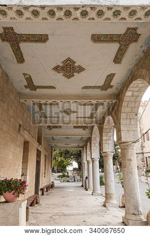 Jerusalem, Israel, December 07, 2019 : The Outer Passage Of The Our Lady Of The Ark Of The Covenant