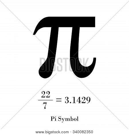 Symbol Pi Icon Black Color Flat Style.simple Image Vector Image.symbol Pi Icon Black Color On White