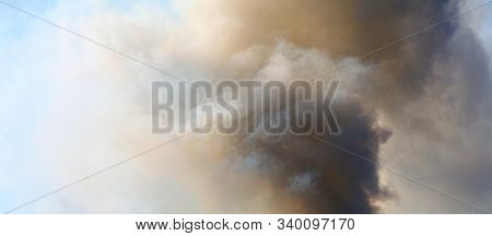 Abstract sky smoke storm dramatic background.