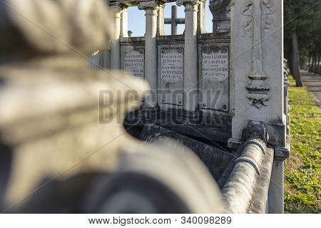 Lyon, France, Europe, 6th December 2019, View Of The Family Tomb Of The Lumiere Family Including The