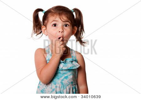 Surprised Little Toddler Girl